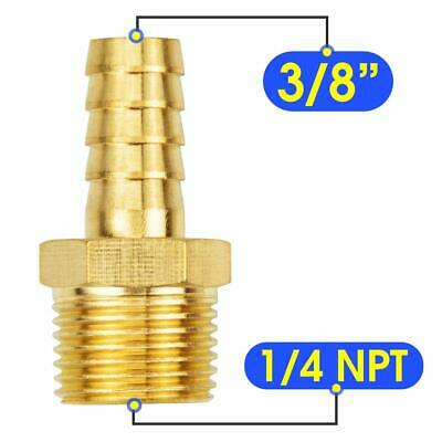 6-pack Air Hose Fittings 38 Barb X 14 Npt Male Pipefittings Adapter