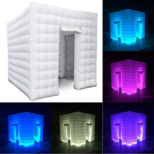 inflatable 2 door 2 5m led light