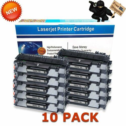 10pk ce505a 05a black toner cartridge