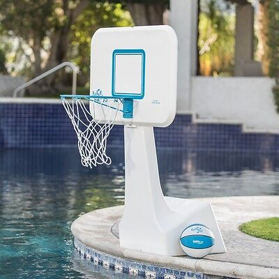 Pool Basketball Hoop Net Game Goal Ball Swimming Portable System Backboard Toy