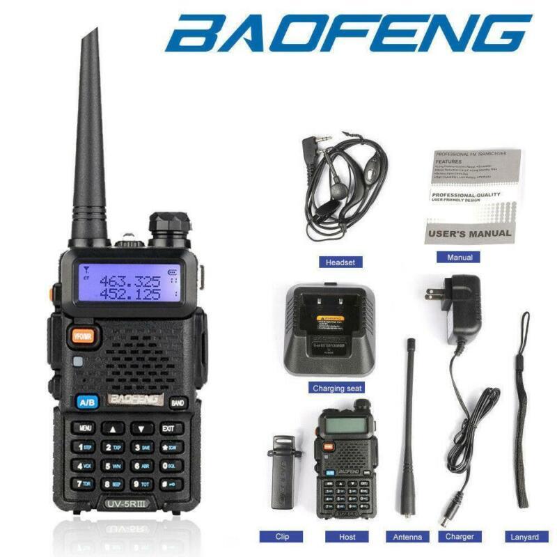 Baofeng UV-5R Ⅲ UHF 1.25M VHF Tri Band Two Way Ham Radio Walkie Talkie