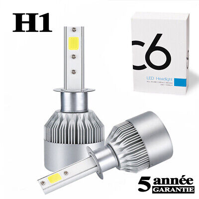2PCS CREE H1 LED Headlight Bulb Kit 1500W 280000LM High Beam Xenon 6000K White @
