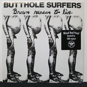 BUTTHOLE-SURFERS-Brown-Reason-To-Live-Blood-Red-Vinyl-LP-Ltd-500-Copies-NEW