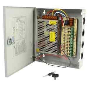 9 Port 12V DC Camera Power Supply Distribution Box 10 Amp CCTV Security Camera