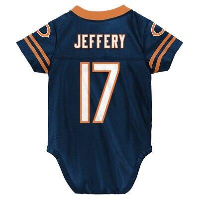 Alshon Jeffer NFL Chicago Bears Infant Newborn Creeper Replica Jersey (3M-9M) Infant Replica Onesie Jersey