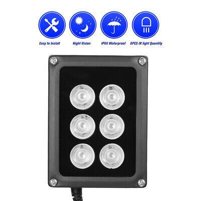 6 Array LED Illuminator IR Infrared Night Vision Light Lamp for CCTV Camera Z0F4