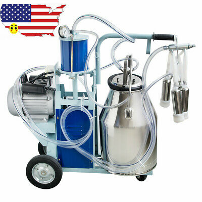 Electric Milking Machine Milker For Farm Cows Bucket 110v 25l 304 Stainless Usa