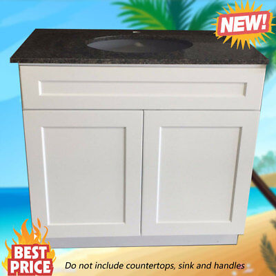 "Bathroom Vanity Cabinet White Shaker Single Sink 30"" W x 21"" D"