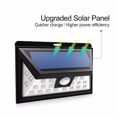 Solar Powered Security Motion Sensor Light LED Patio Deck Yard Garden Wall Lamp