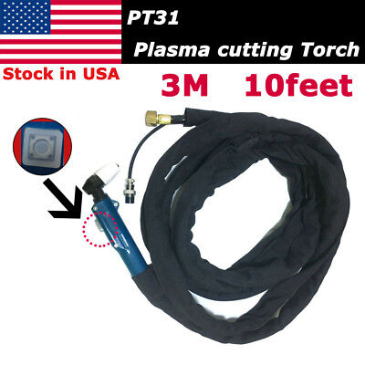 Pt-31 Plasma Cutter Cutting Torch 10feet 3m Cable Body Complete Set Cut4050