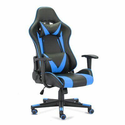 Computer Chair Office Chair Gaming Chair Comfortable Sedentary Blue Racing Chair