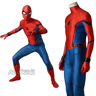 Spiderman Homecoming Superhero Cosplay Costume Spiderman Spandex Suit Halloween  - Mens Superhero Costumes