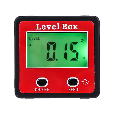 Digital Bevel Box Protractor Gauge Angle Finder Inclinometer Magnetic Tool Lcd