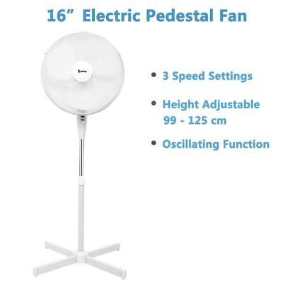 """NEW 16"""" Oscillating Extendable Free Standing Tower Pedestal Cooling Fan Home Air"""