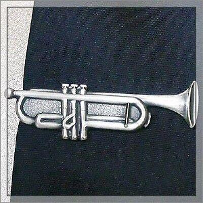 ISHOKUYA Unique Tie Clasps & Tacks Trumpet Shape Tie Clip/Pin/Bar Brand New