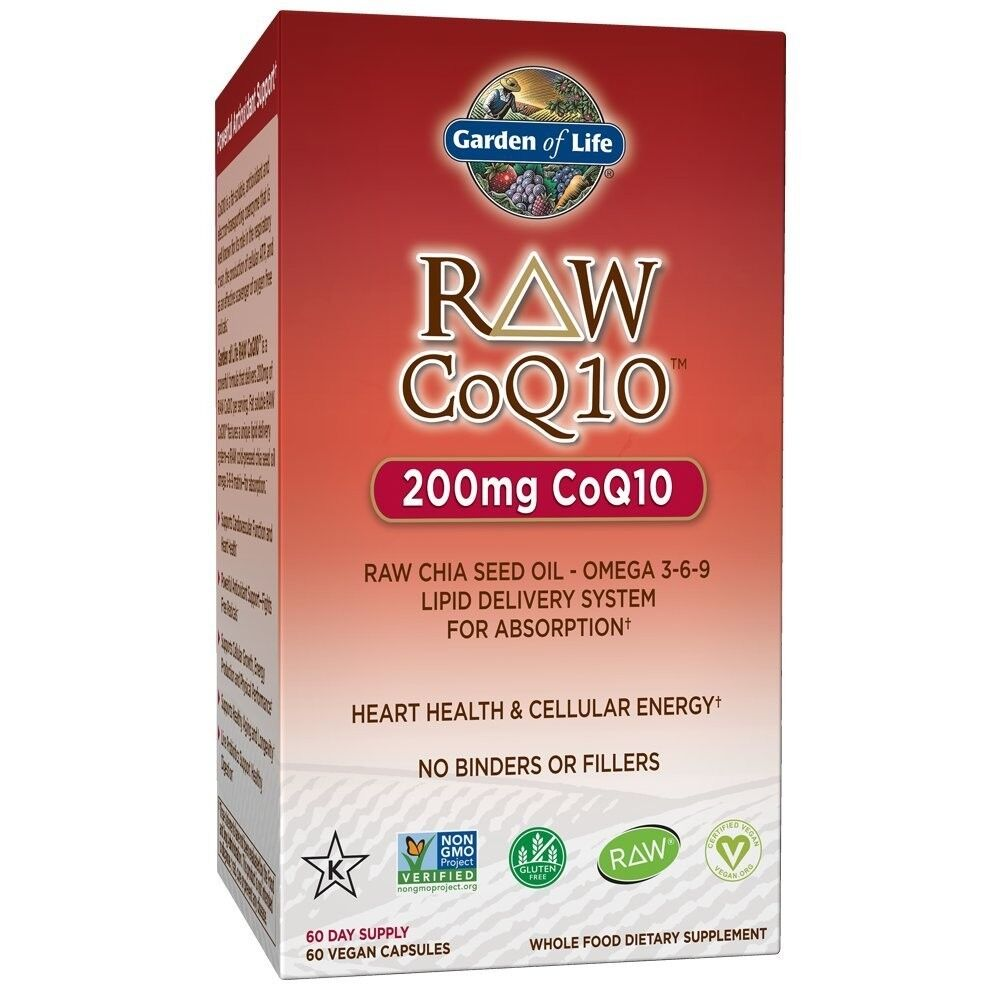 Garden Of Life RAW Co-Q-10 200 mg-60 Capsules