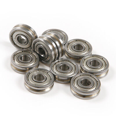 10pcs 0.5mm Deep Metal V Groove 5165mm Guide Pulley Rail Ball Bearings Wheel