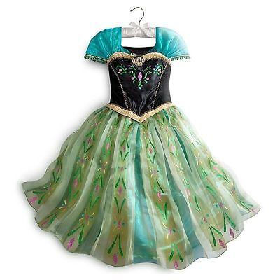 $100 NEW Disney Frozen Princess Anna DELUXE Coronation  Costume  7-8 1st EDITION ()