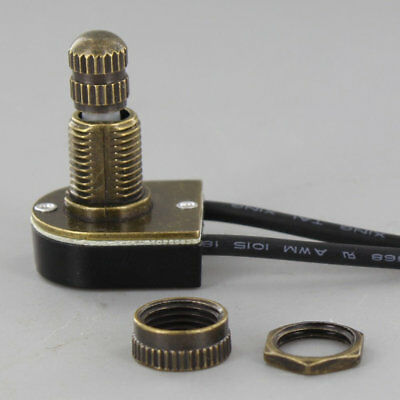 ROTARY ON-OFF CANOPY SWITCH ~ Antique ~ Brass ~ Nickel ~ by PLD - Nickel Rotary Switch