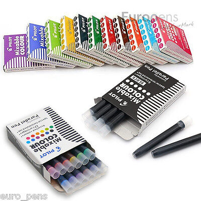 Pilot Ink Cartridges Ic-p3 For Parallel Calligraphy Fountain Pen Pack Of 12