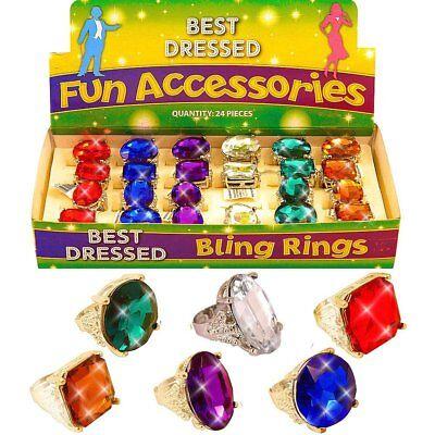 German Trendseller® - 4 x Juwelen Ring | Edelstein | Princessin | Cinderella