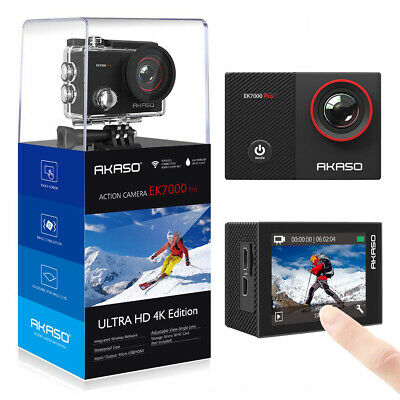 Akaso EK7000Pro 4K Action Camera with Touch Screen EIS 40m Waterproof with Acces