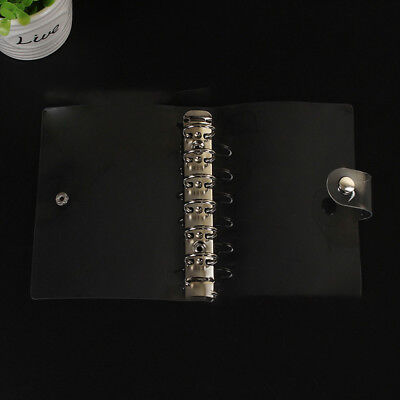 A5a6 Transparent Loose Leaf Ring Binder Notebook Weekly Planner Diary Cover E99