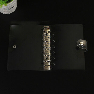 A5a6 Transparent Loose Leaf Ring Binder Notebook Weekly Planner Diary Cover Np2