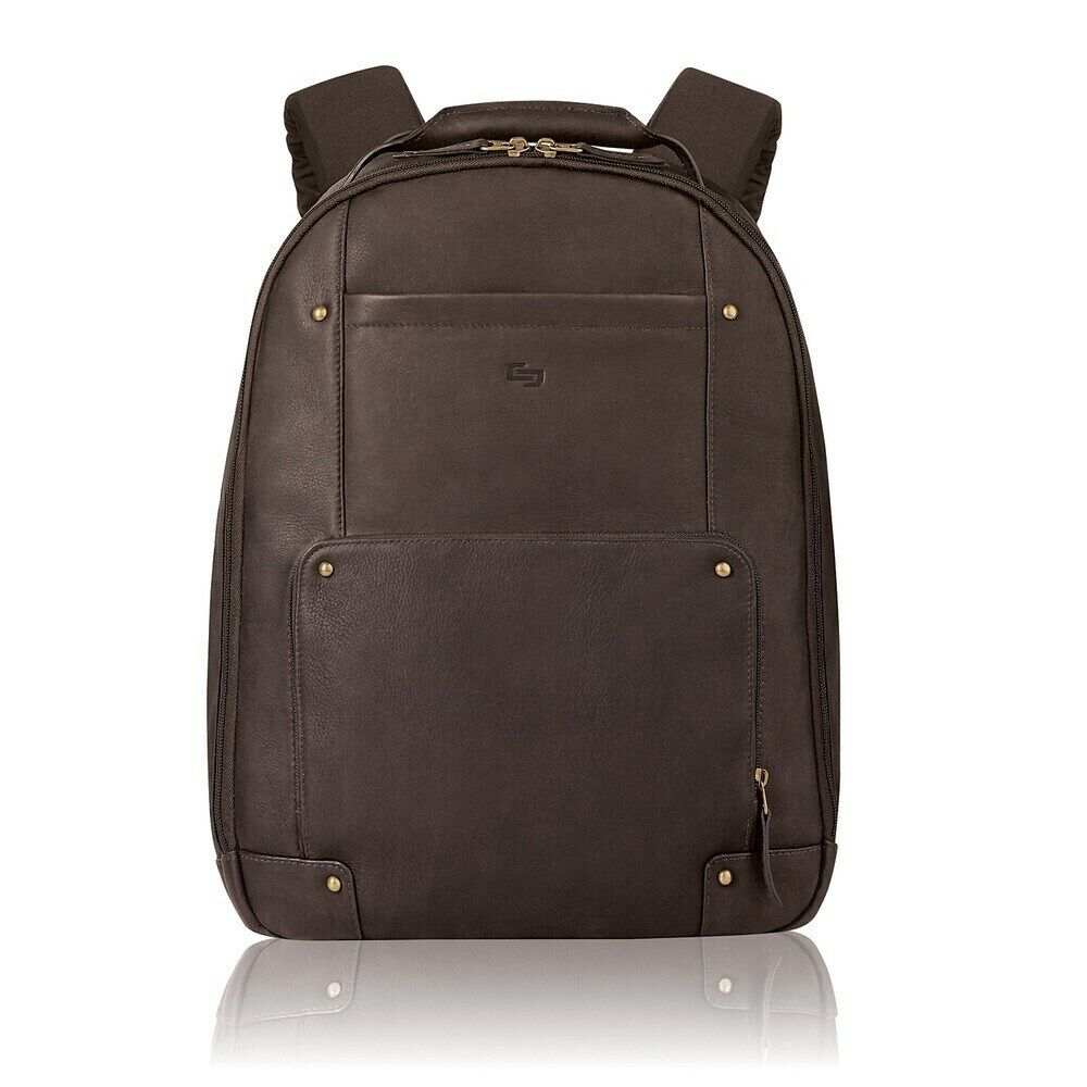 """Solo Vintage Carrying Case  for 15.6"""" Notebook - Brown - Lea"""