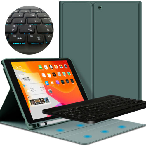 Case Cover & Bluetooth Backlit Keyboard with Pencil Holder K