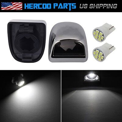 Pair License Plate Light Lens w/ White 3020 SMD LED Bulb f 99-05 GMC Chevy Truck