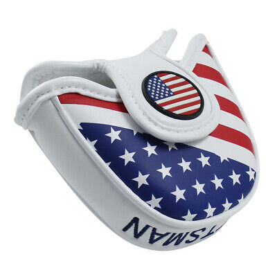 Mallet Putter Cover For TaylorMade Odyssey Golf Club Head Covers USA Flage (Mallet Putter Golf Headcover)