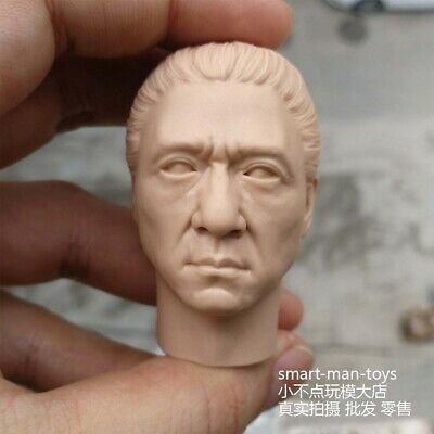 Jackie Chan Costume (blank 1/6 scale Head Sculpt Jackie Chan Ancient costume KongFu Star)