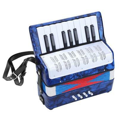 Professional 17 Key 8 Bass Piano Accordion for Beginners Students(Navy Blue) NEW