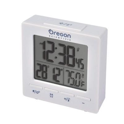 Oregon Scientific RM511A Portable Radio Controlled Travel Alarm Clock in White