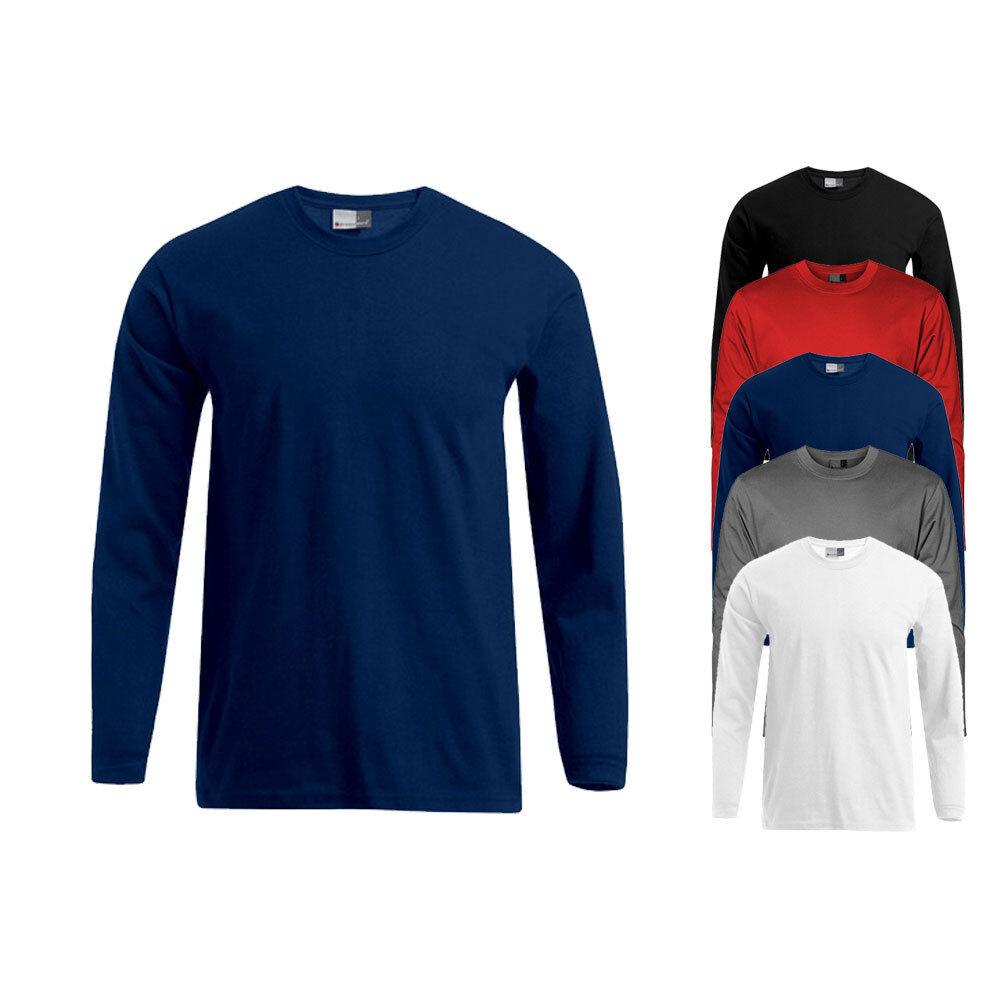 Promodoro Herren Langarm T Shirt Longsleeve Premium S M L XL XXL 3XL 4XL 5XL Neu
