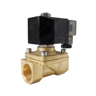 "110V 1/2"" NPT Normally Closed Brass Viton 2-Way Solenoid Valve"