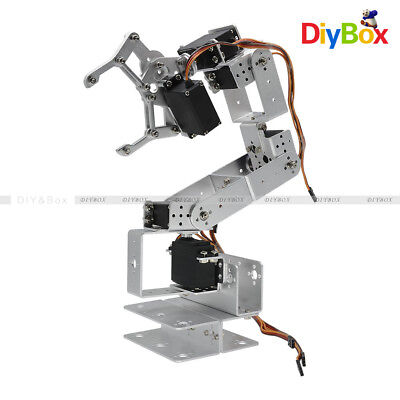 Rot3u 6dof Aluminium Robot Arm Mechanical Robotic Clamp Claw For Arduino-silver