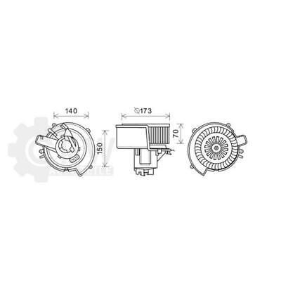 Motor Eléctrico Ventilador Interior Para Opel Zafira A