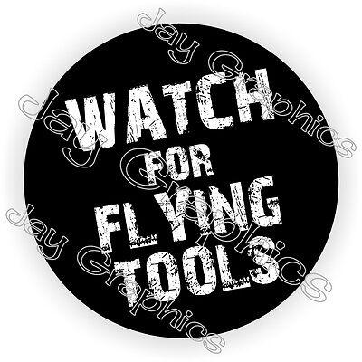 Flying Tools Hard Hat Sticker Decal Funny Label Helmet Diesel Auto Mechanic