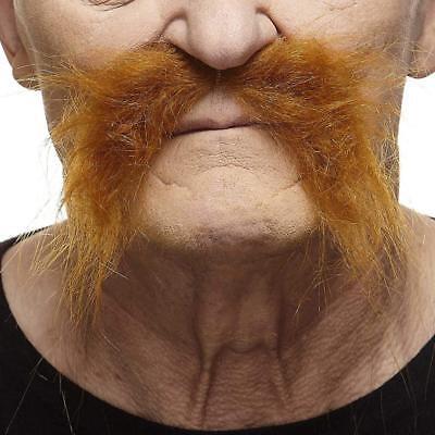 Mustaches Self Adhesive, Novelty, Fake, Realistic Fu Manchu  - Fake Fu Manchu Mustache