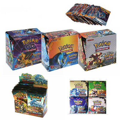 324pcs Cards Pokemon TCG Booster English Edition Break Point 36Packs Kids Gift