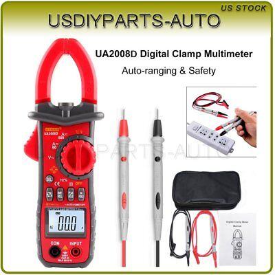 Uyigao Digital Clamp Meter Multimeter Handheld Rms Acdc Resistance Ua2008d