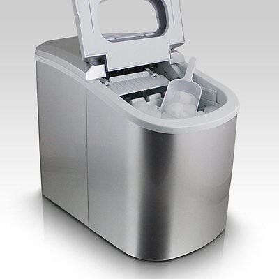 Eiswürfelmaschine Eiswürfelbereiter Eiswürfel Ice Maker Eis Maschine in Silber
