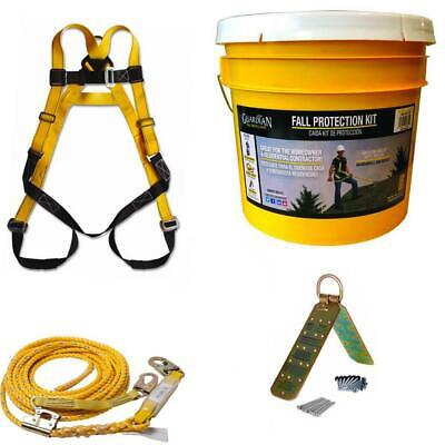 Guardian Fall Protection Rooftop Safe Tie Bucket Kit Safety Harness