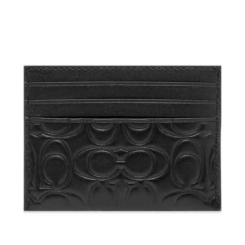 Coach Black Card Case In Signature Leather 32032 BLK