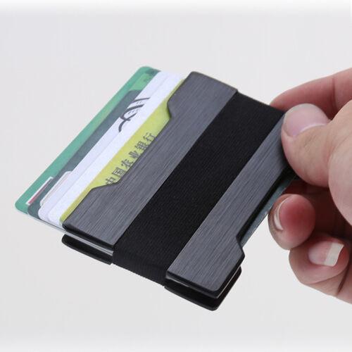 Men Slim Front Pocket Black Wallet Credit Card Holder Money