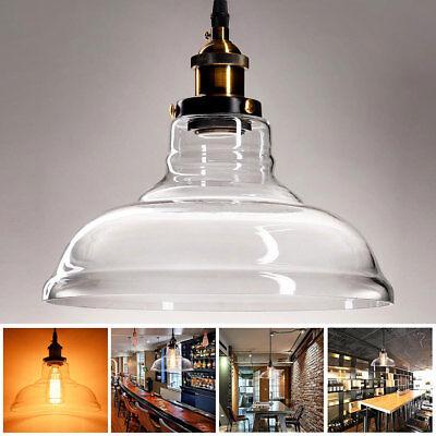 Industrial Pendant Lamp Vintage Chandelier Ceiling Light Fixture Pendant Glass