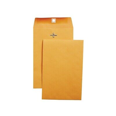 "Staples Brown Kraft Clasp 6"" x 9"" Envelopes 100/Box 186999"