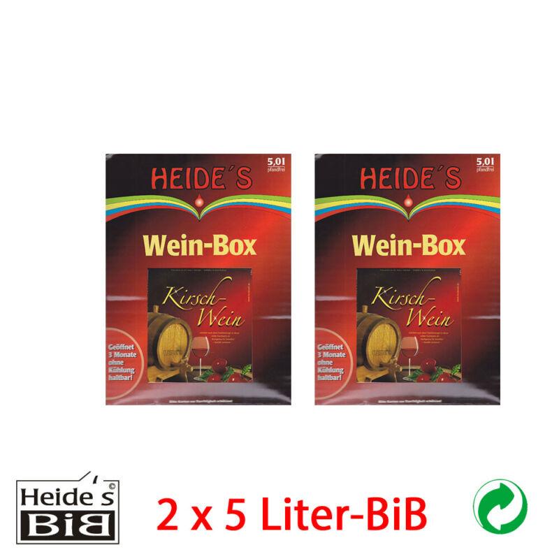 Kirsch-Wein 9, 5% Alc., 2 x 5 Liter-BiB - 2er-Pack